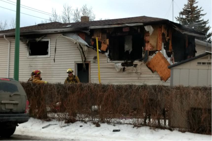 Regina house fire sends 3 people to hospital