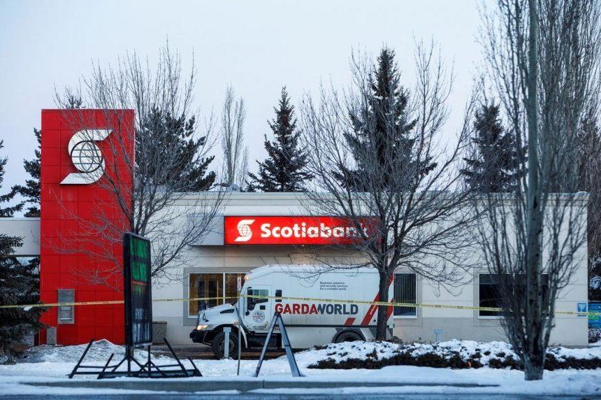 Guards injured, money stolen during overnight blast at Edmonton bank