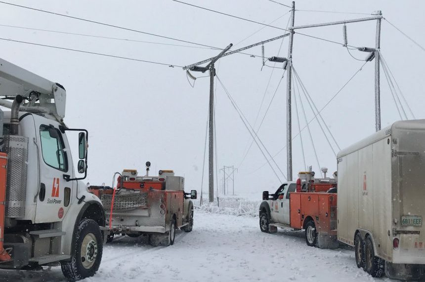 SaskPower crews still working on permanent fixes to lines