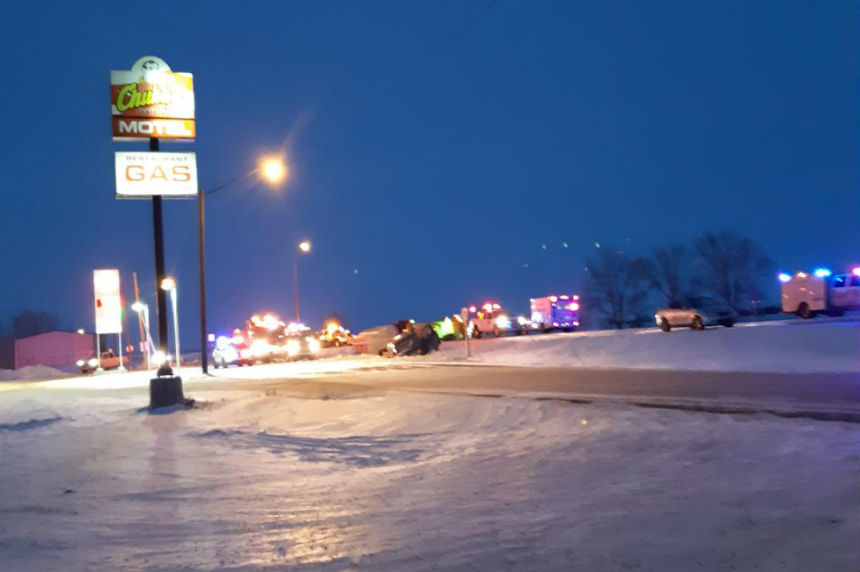 RCMP investigate serious crash on Hwy 1 near Belle Plaine | 980 CJME