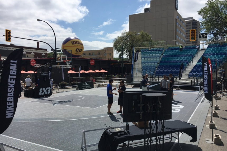 FIBA 3x3 tournament gets underway in downtown Saskatoon