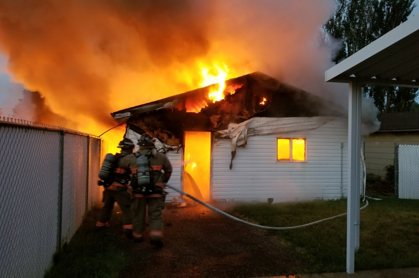 Early morning garage fires deemed suspicious