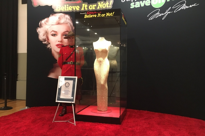 Marilyn Monroe dress goes on display in Luseland