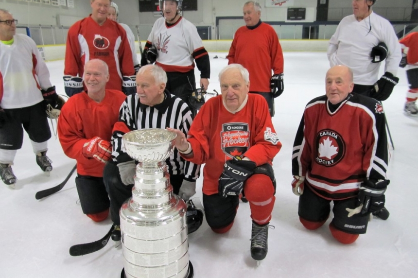 Stanley Cup pays a visit to Saskatoon old timers' hockey league