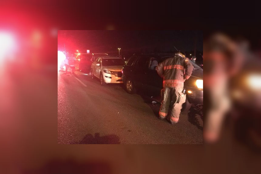 Man charged with drunk driving after late-night pileup