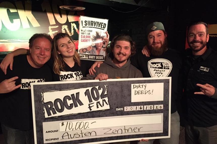 Dirty deeds done as Rock 102 names $10K winner