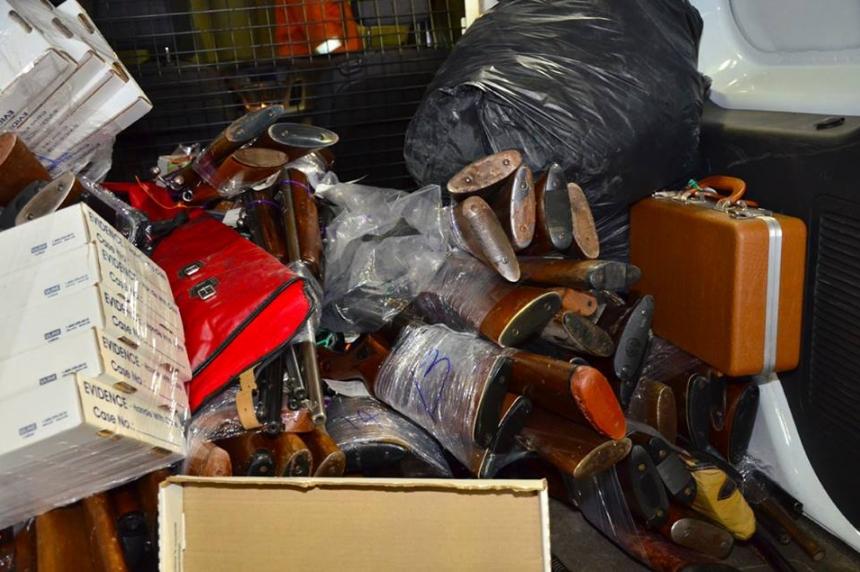 Photo gallery: Regina police destroy guns gained through amnesty program