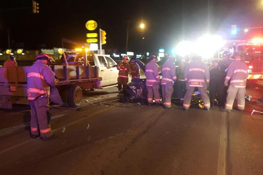 Morning crash backs up Circle Drive North