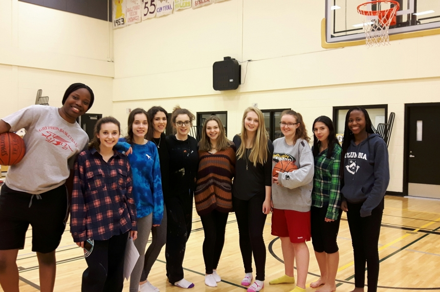 Girls competing in Regina's LIT tournament for the 1st time