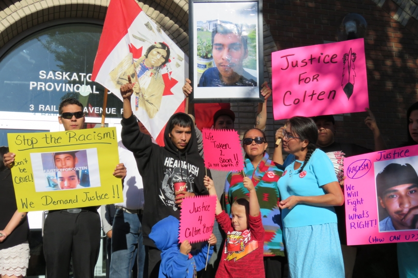 Rallies held for First Nations man fatally shot on Sask. farm as accused faces bail hearing