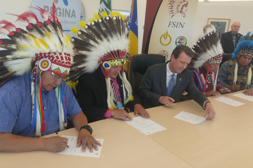 City of Regina, FSIN sign agreement to educate about racism
