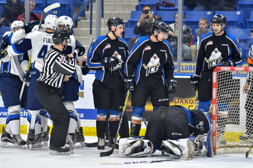 Blades win and pull even for playoff spot
