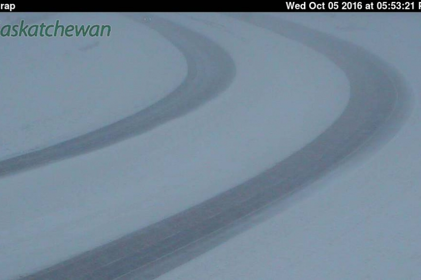 Highways treacherous as snow continues to fall in Sask.