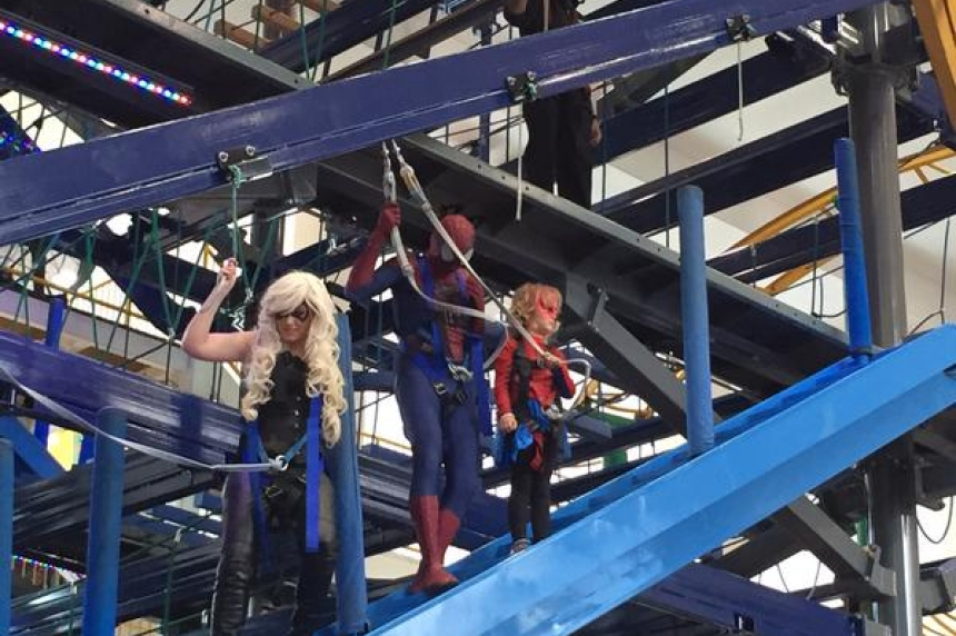 Look out! Here comes SpiderMable; pint-sized cancer patient lives out dream