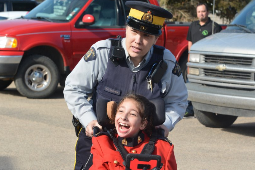 Girl living with cerebral palsy appointed staff sergeant with Melfort RCMP
