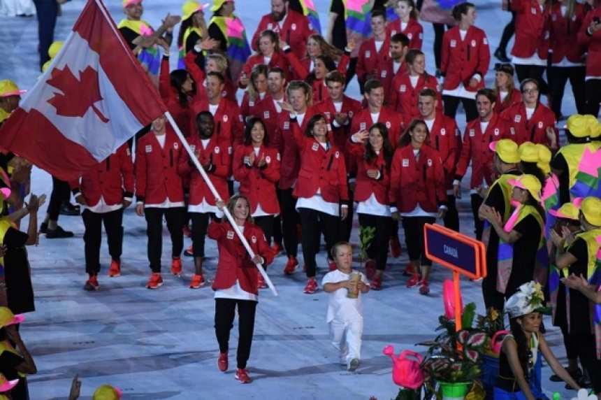 Canada's team receives warm welcome at Maracana Stadium for opening ceremony
