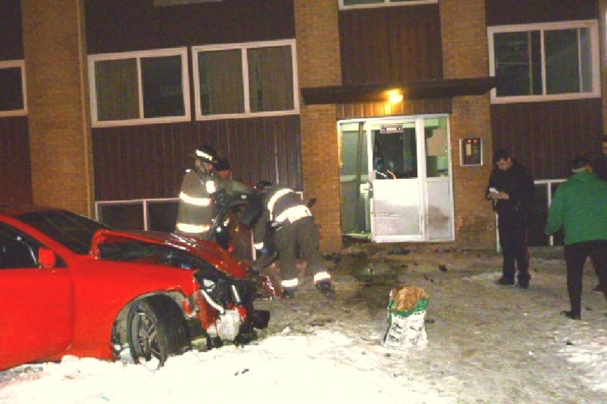 Alcohol believed to be a factor in apartment crash