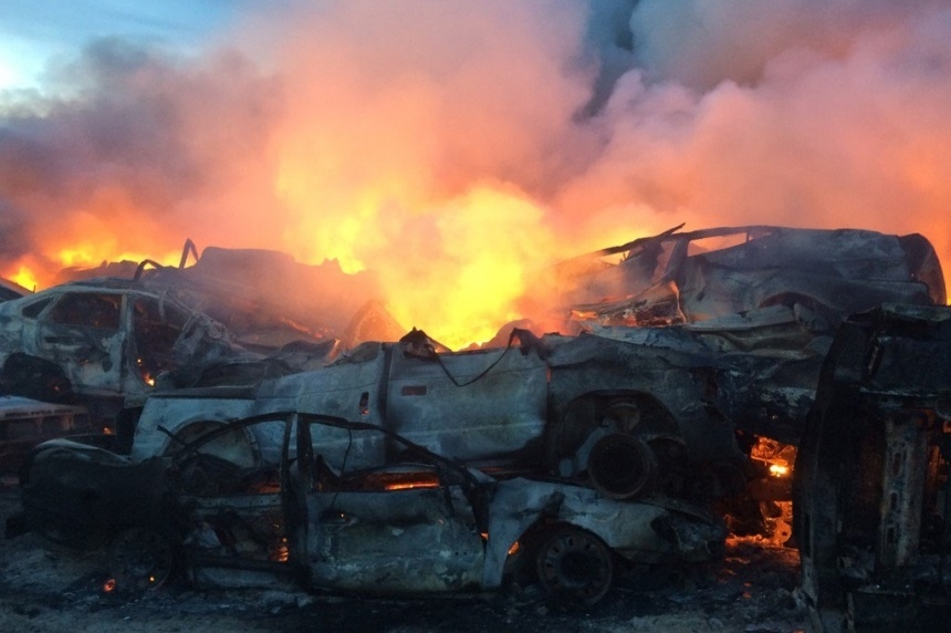 3 youth charged, 2 warned in salvage yard fire