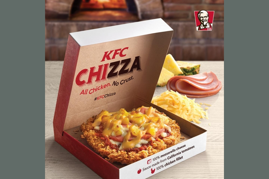 KFC gives pizza the DoubleDown treatment