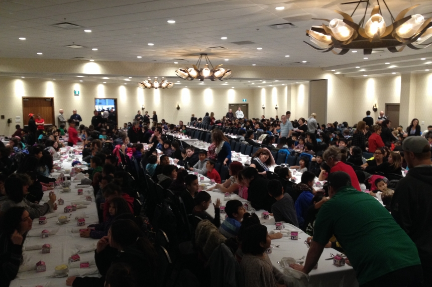 Inner city schools treated to Christmas lunch at downtown Regina hotel