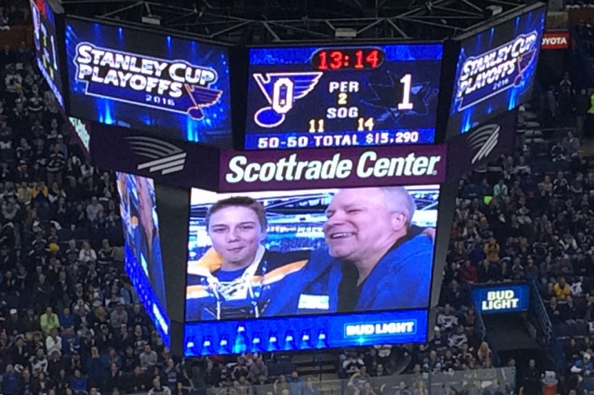 Father, son from Saskatoon invited to St. Louis for special hockey broadcast