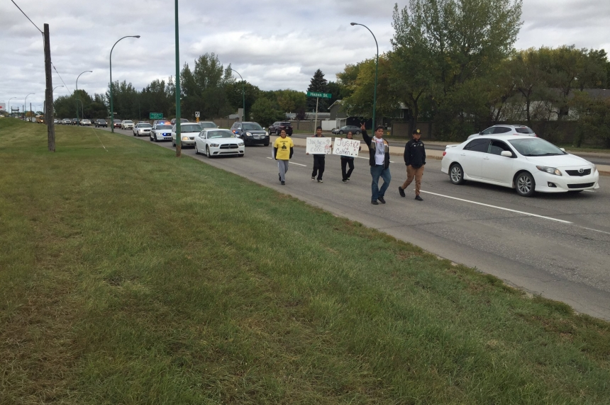 Walk for missing indigenous men marches through Saskatoon