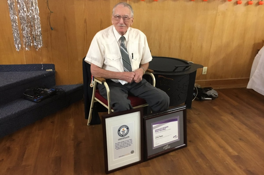 Saskatoon man officially world's oldest plumber