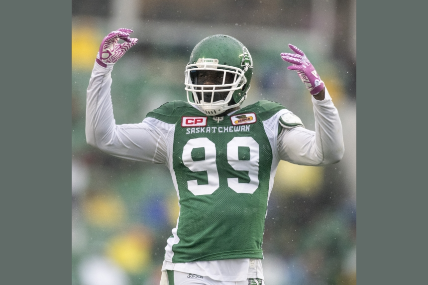 Roughriders' defensive line looking better and brighter