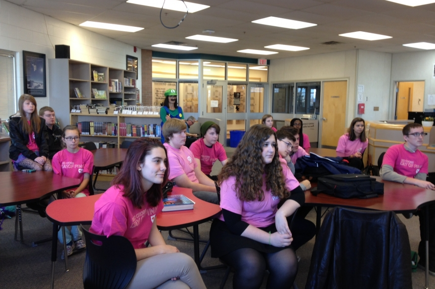 New Pink Day message launched at Regina high school