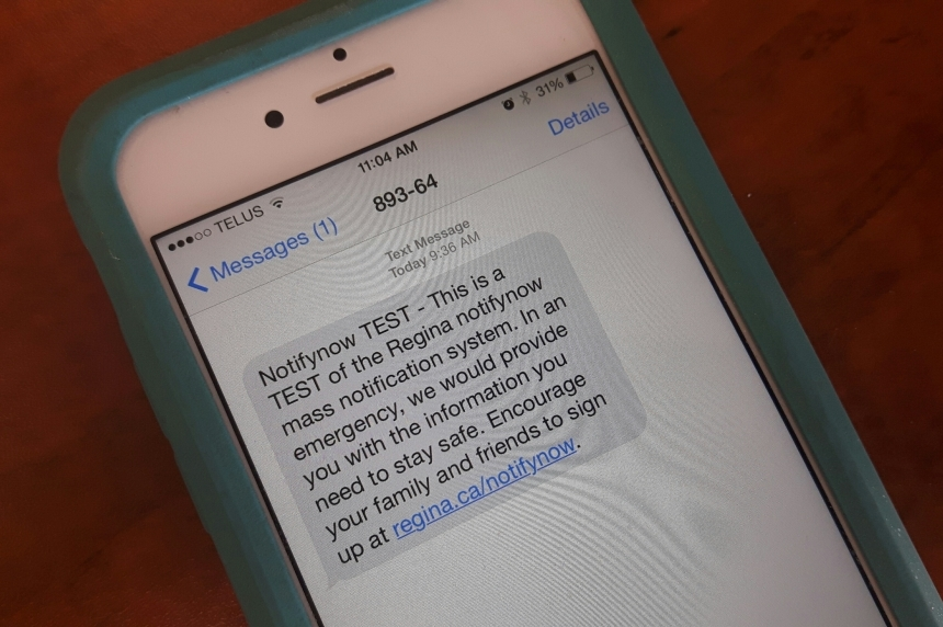 Test of Regina's emergency alert system delayed due to server crash