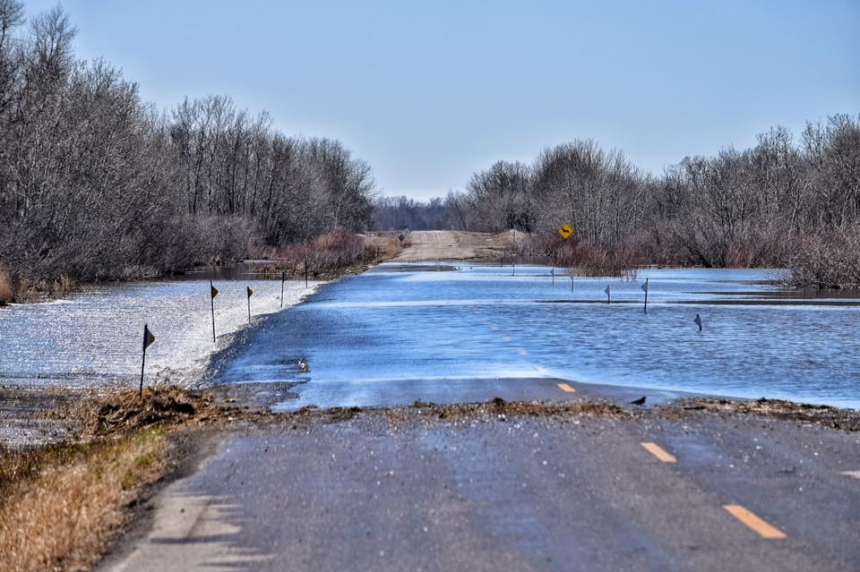 Fast melt causes some localized flooding in the Canora, Buchanan area