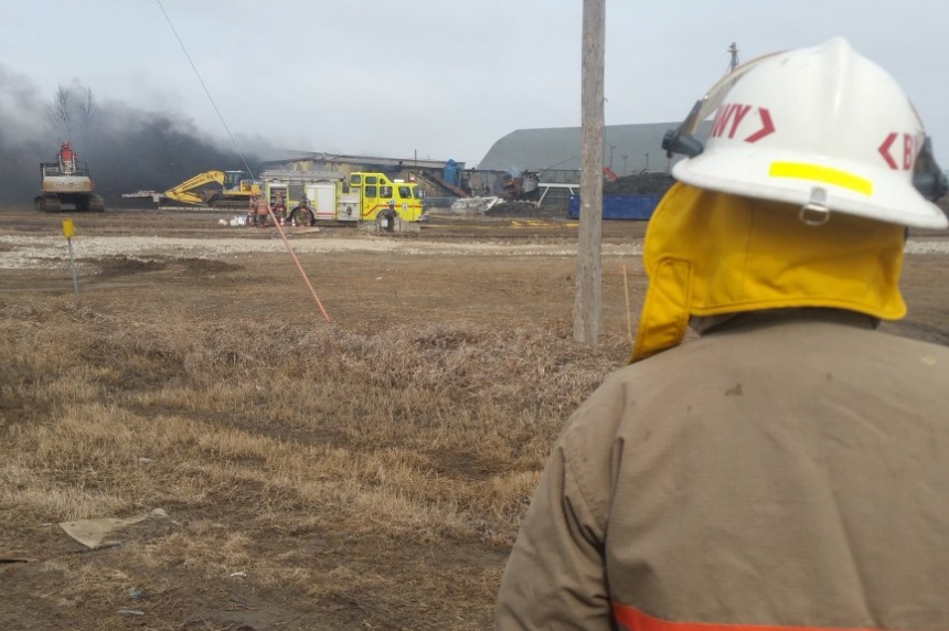 Fire fighters hope to save 3rd building in Shercom Industries blaze