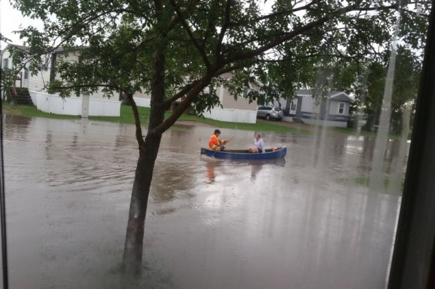 Estevan flooded while heavy rainfall warnings cover province