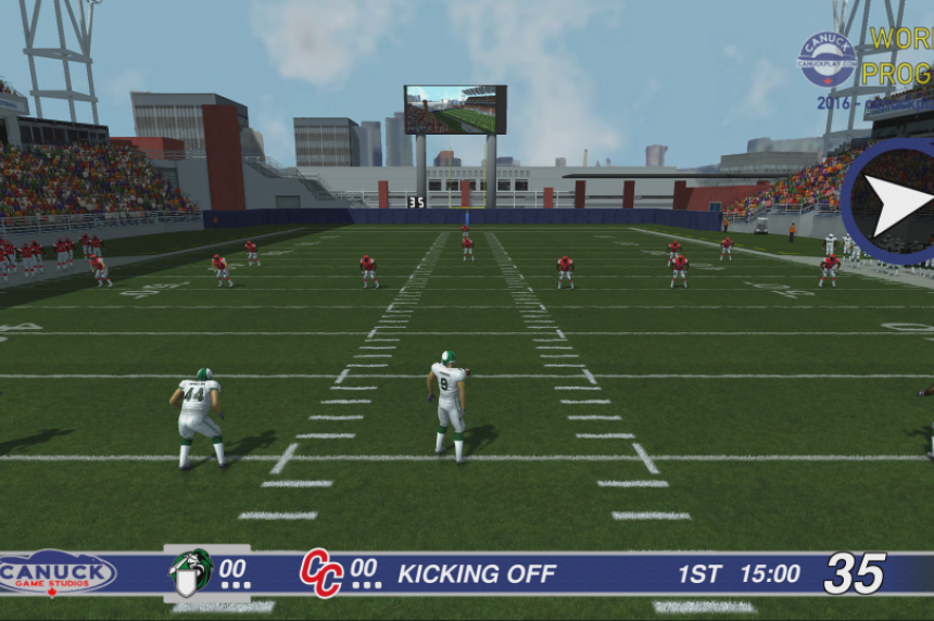 3 downs 3-D: Canadian football video game set for release