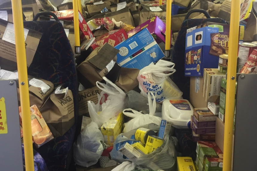 Stuff-the-Bus comes through for Saskatoon food bank