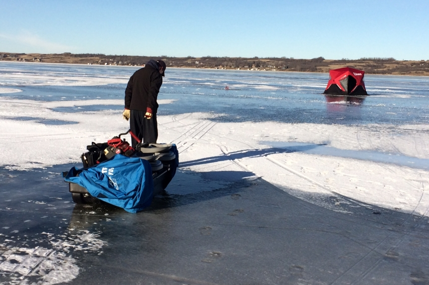Mild weather not deterring some from ice fishing