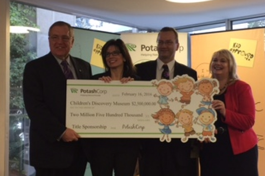 PotashCorp cuts cheque for new children's museum