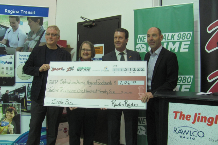 Jingle Bus delivers $12,000 donation to Regina charities