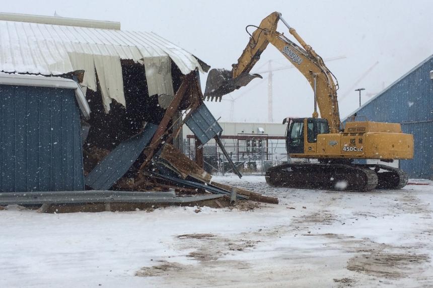 Demolition begins to make way for Regina's International Trade Centre