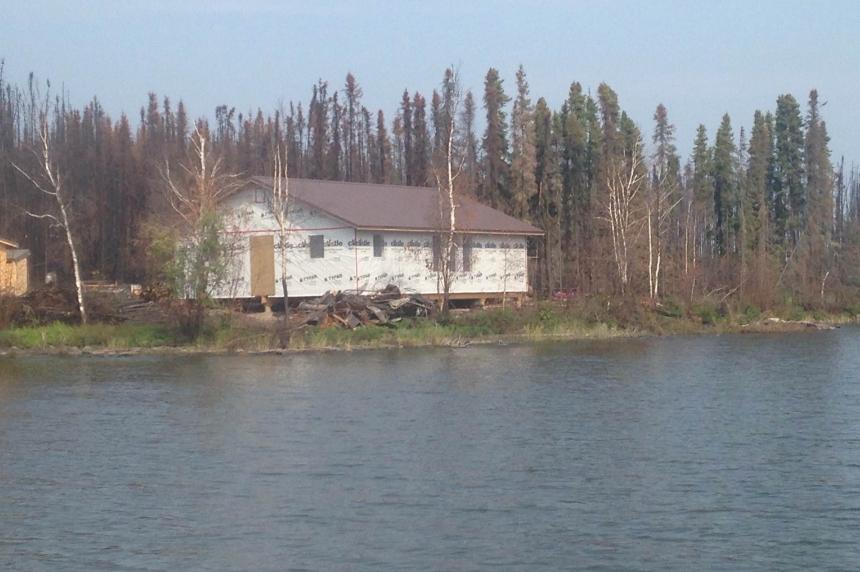 Rebuild on Nemeiben Lake begins after wildfires engulfed several cabins