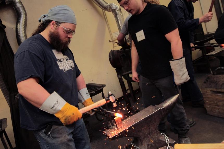 Forging the future: WDM celebrates 100th blacksmithing course