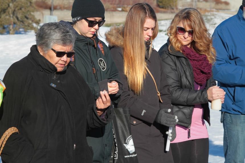 Saskatoon vigil mirrors La Loche funeral for Marie Janvier
