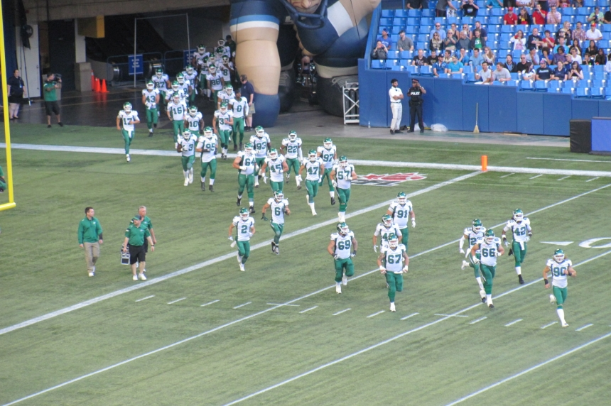 Riders fall to 0-7 following 30-26 loss in Toronto