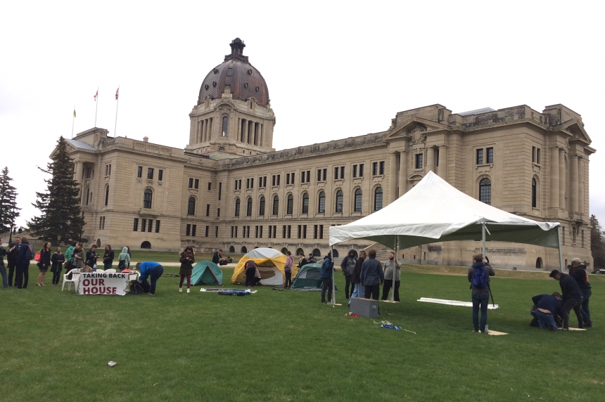First of 5 days: student group protests Sask. budget