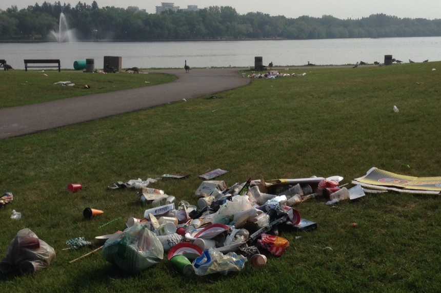 PHOTOS: Canada Day leaves big mess to clean up in Regina