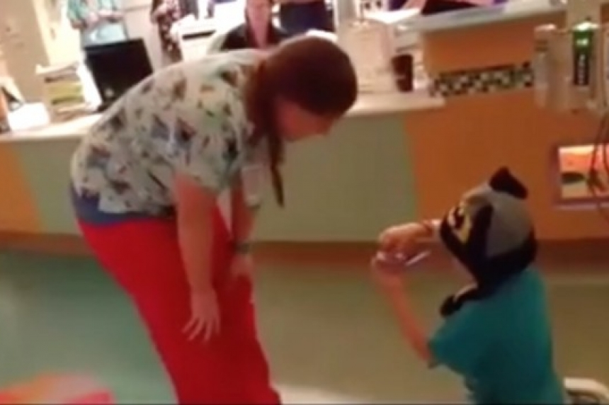 5-year-old cancer patient 'proposes' to favourite nurse in California