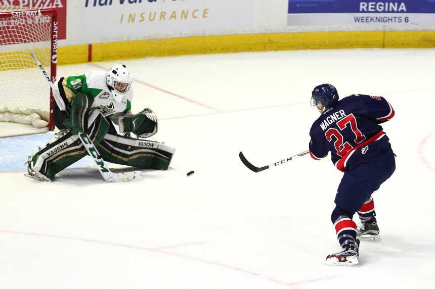 Regina Pats fire 72 shots on net in 7-2 win over the Raiders