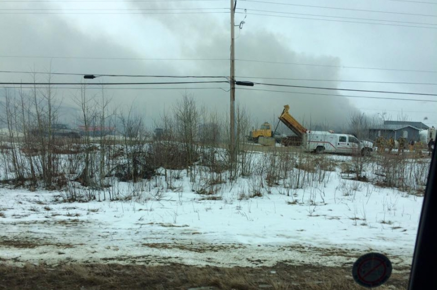 Iconic building burns in La Ronge industrial fire