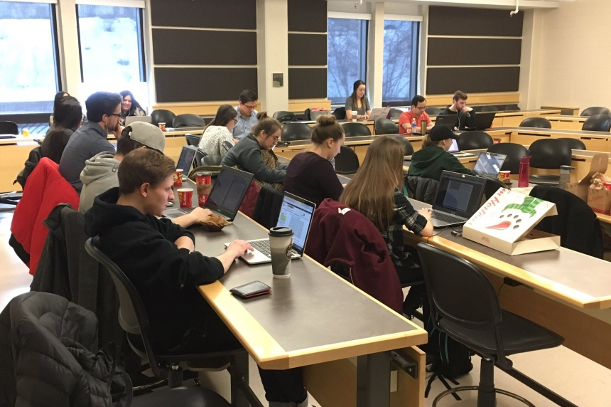 Sask. law students participate in 12-hour research-a-thon to help refugees
