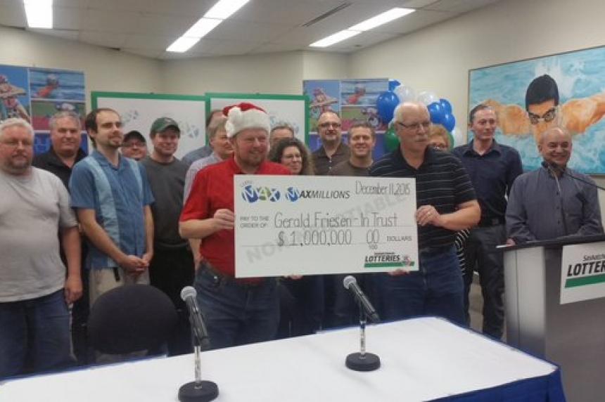 Saskatoon co-workers split big lotto win